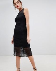 Кружевное платье миди Sugarhill Boutique nadia - Черный
