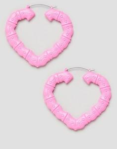 Розовые серьги-кольца ASOS DESIGN - Розовый