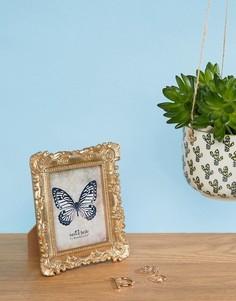 Золотистая рамка для фотографии с декоративным орнаментом Sass & Belle - Мульти