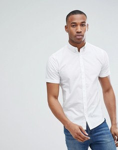 Эластичная хлопковая рубашка с короткими рукавами Only & Sons - Белый