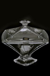 Конфетница с крышкой 22 см Crystalite Bohemia