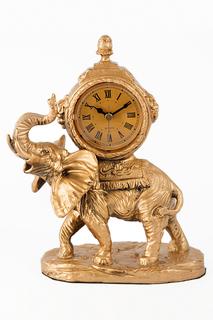 """Часы настольные """"Слоны"""" Русские подарки"""