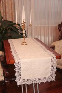 Дорожка столовая с кружевом NATUREL