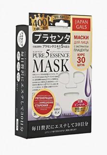 Набор масок для лица Japan Gals Маска с плацентой Pure5 Essential 30 шт