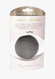 Спонж для очищения лица The Konjac Sponge Co мужской Premium Gentlemens Sponge with Bamboo Charcoal (премиум-упаковка)