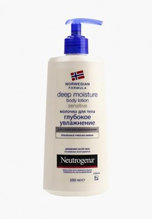 Молочко для тела Johnson & Johnson Neutrogena Глубокое увлажнение для сухой и чувствительной кожи, 250 мл