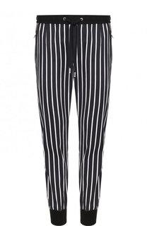 Хлопковые брюки с поясом и манжетами на резинке Dolce & Gabbana