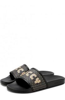 Резиновые шлепанцы с логотипом бренда Gucci