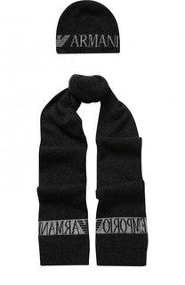 Комплект из шапки и шарфа Emporio Armani