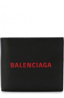 Кожаное портмоне с логотипом бренда Balenciaga