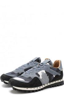 Комбинированные кроссовки Valentino Garavani Rockrunner на шнуровке  Valentino 0fbd7e5982b
