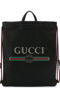 Кожаный рюкзак с логотипом бренда Gucci