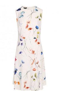 Приталенное мини-платье с принтом Escada