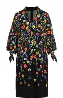 Платье свободного кроя с V-образным вырезом и принтом Escada