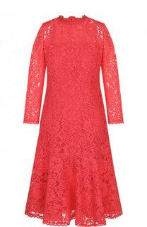 Кружевное мини-платье с круглым вырезом Escada