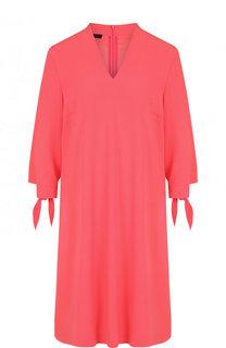 Однотонное платье свободного кроя с V-образным вырезом Escada