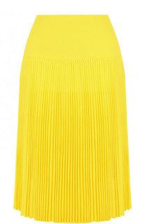 Однотонная плиссированная юбка из вискозы Ralph Lauren