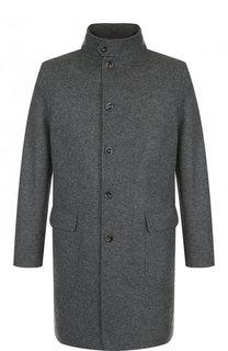 Однобортное кашемировое пальто с воротником-стойкой Loro Piana