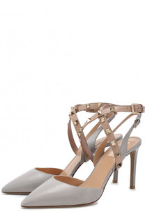 Кожаные туфли Valentino Garavani Studwrap на шпильке Valentino