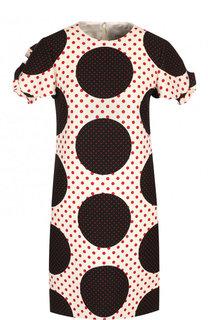 Мини-платье из смеси шерсти и шелка с принтом Valentino