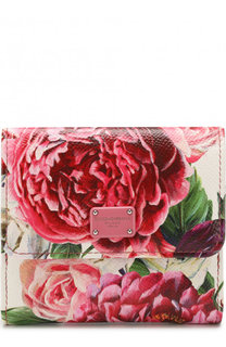 Кожаный кошелек с цветочным принтом Dolce & Gabbana
