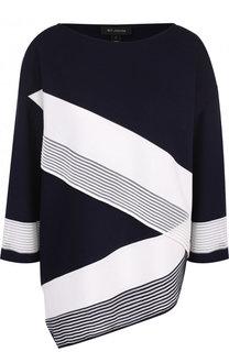 Пуловер асимметричного кроя с контрастной отделкой St. John