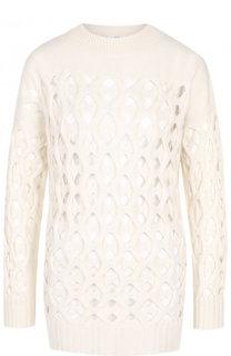 Вязаный пуловер из смеси шерсти и кашемира Oscar de la Renta