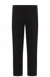 Хлопковые брюки прямого кроя с поясом на кулиске Alexander McQueen