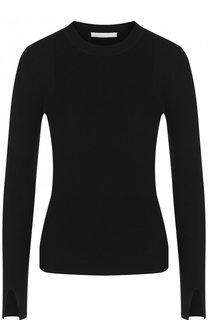 Однотонный пуловер с круглым вырезом BOSS