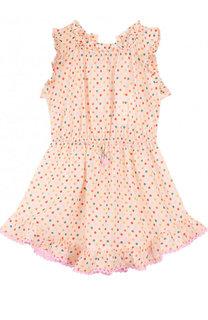 Хлопковое платье с поясом на кулиске Zimmermann