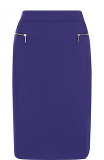 Однотонная юбка-карандаш с разрезом BOSS
