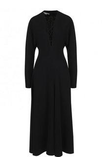 Однотонное платье-миди со шнуровкой Stella McCartney