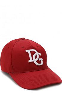 Хлопковая бейсболка Dolce & Gabbana