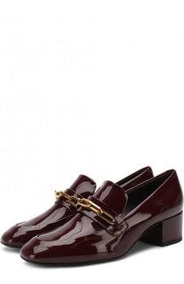 Лаковые туфли на устойчивом каблуке Burberry