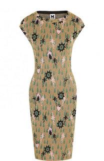 Приталенное мини-платье с круглым вырезом и металлизированной нитью M Missoni