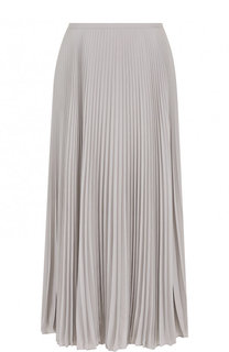 Однотонная плиссированная юбка-миди Escada