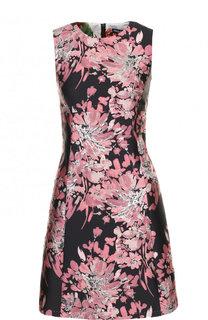 Мини-платье с круглым вырезом и принтом Dolce & Gabbana