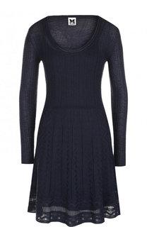 Приталенное мини-платье с круглым вырезом M Missoni