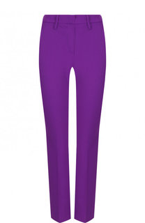 Однотонные укороченные брюки со стрелками Versus Versace