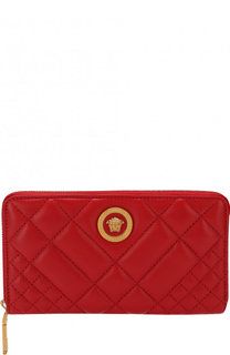 Кожаное портмоне на молнии Versace