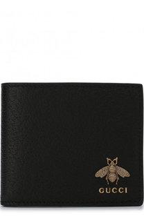Кожаное портмоне Animalier с отделениями для кредитных карт Gucci