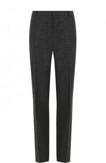 Шерстные брюки прямого кроя со стрелками BOSS