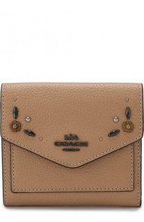 Кожаный кошелек с декоративной отделкой Coach