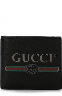 Кожаное портмоне с отделениями для кредитных карт и монет Gucci