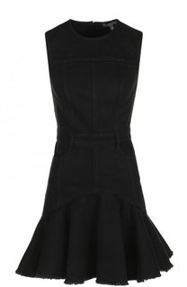 Джинсовое мини-платье с круглым вырезом Alexander McQueen