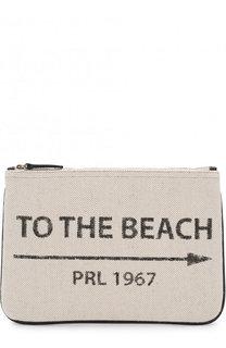 Текстильный клатч на молнии Polo Ralph Lauren