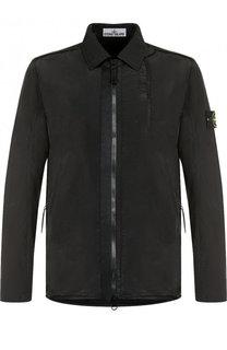 Куртка на молнии с отложным воротником Stone Island