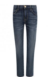Укороченные джинсы с потертостями Current/Elliott