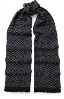 Шерстяной шарф с бахромой Giorgio Armani