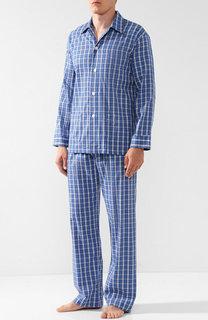 Хлопковая пижама в клетку Derek Rose